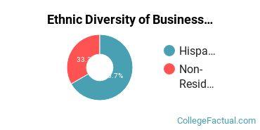 Ethnic Diversity of Business Administration & Management Majors at Atlantis University