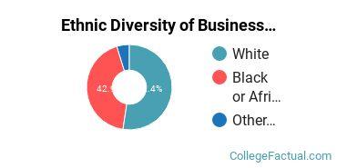 Ethnic Diversity of Business Administration & Management Majors at Auburn University at Montgomery