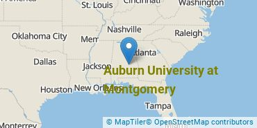 Location of Auburn University at Montgomery