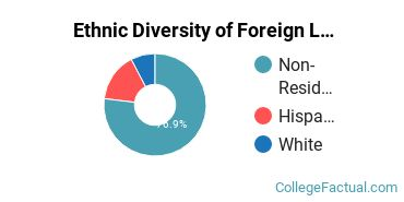 Ethnic Diversity of Foreign Languages & Linguistics Majors at Auburn University