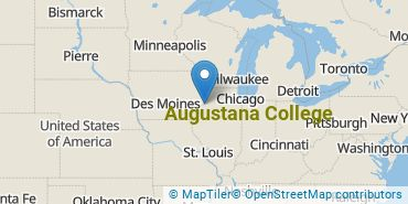 Location of Augustana College