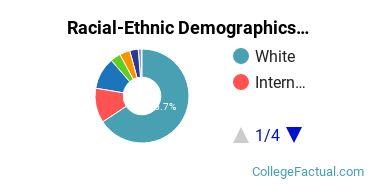 Augustana College Undergraduate Racial-Ethnic Diversity Pie Chart
