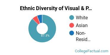 Ethnic Diversity of Visual & Performing Arts Majors at Augustana University