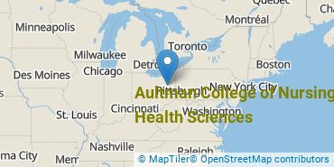 Location of Aultman College of Nursing and Health Sciences