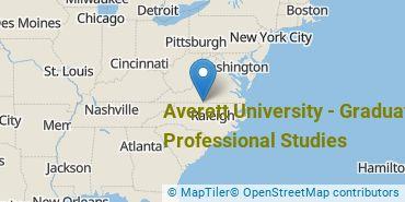 Location of Averett University - Non - Traditional Programs