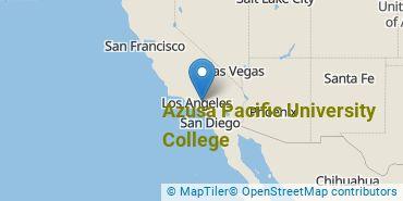 Location of Azusa Pacific University College