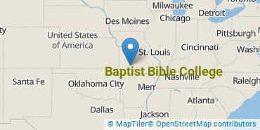 Location of Baptist Bible College