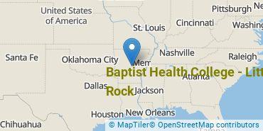 Location of Baptist Health College - Little Rock