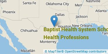 Location of Baptist Health System School of Health Professions