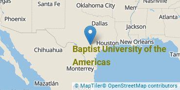 Location of Baptist University of the Americas