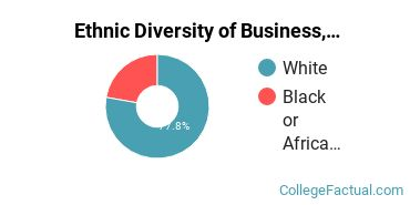 Ethnic Diversity of Business, Management & Marketing Majors at Barclay College
