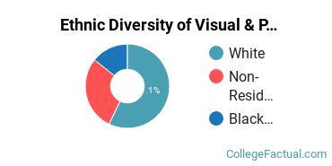 Ethnic Diversity of Visual & Performing Arts Majors at Barton College