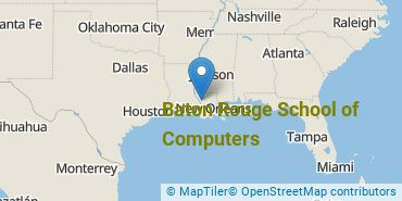 Location of Baton Rouge School of Computers