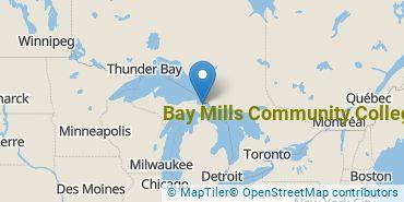 Location of Bay Mills Community College