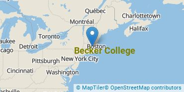 Location of Becker College