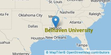 Location of Belhaven University