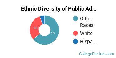 Ethnic Diversity of Public Administration & Social Service Majors at Bellevue University