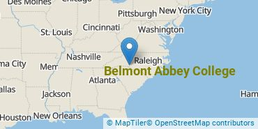 Location of Belmont Abbey College