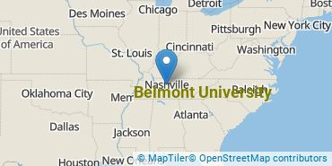 Location of Belmont University