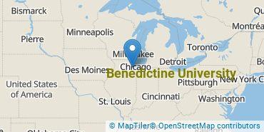Location of Benedictine University