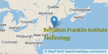 Location of Benjamin Franklin Institute of Technology