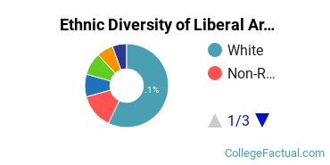 Ethnic Diversity of Liberal Arts / Sciences & Humanities Majors at Bentley University