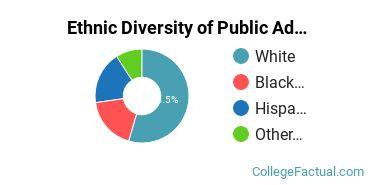 Ethnic Diversity of Public Administration & Social Service Majors at Berkshire Community College