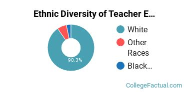Ethnic Diversity of Teacher Education Grade Specific Majors at Berry College
