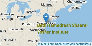 Location of Beth Hamedrash Shaarei Yosher Institute