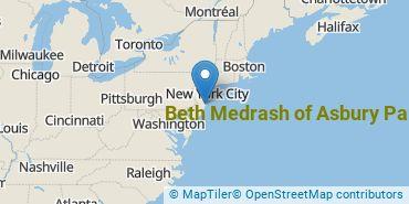 Location of Beth Medrash of Asbury Park