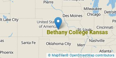 Location of Bethany College Kansas