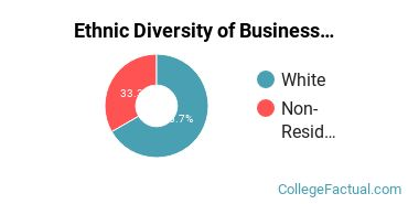 Ethnic Diversity of Business Administration & Management Majors at Bethany College West Virginia