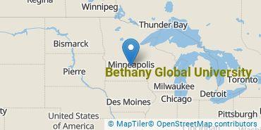 Location of Bethany Global University