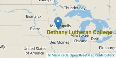 Location of Bethany Lutheran College