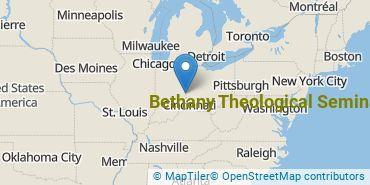Location of Bethany Theological Seminary