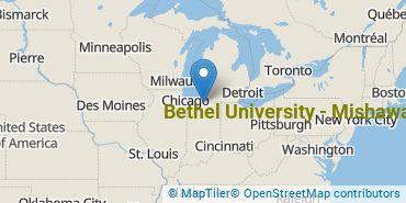 Location of Bethel College - Mishawaka