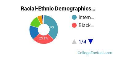 Biblical Theological Seminary Graduate Students Racial-Ethnic Diversity Pie Chart