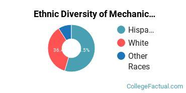 Ethnic Diversity of Mechanic & Repair Technologies Majors at Big Bend Community College