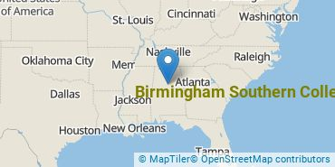 Location of Birmingham Southern College