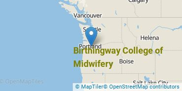 Location of Birthingway College of Midwifery