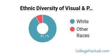 Ethnic Diversity of Visual & Performing Arts Majors at Bismarck State College