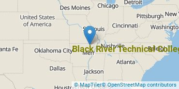 Location of Black River Technical College