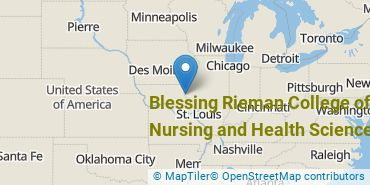 Location of Blessing Rieman College of Nursing and Health Sciences