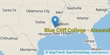 Location of Blue Cliff College - Alexandria