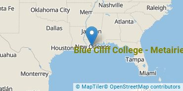 Location of Blue Cliff College - Metairie