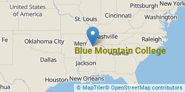 Location of Blue Mountain College