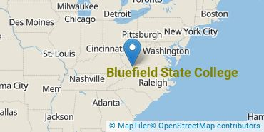 Location of Bluefield State College