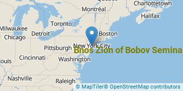 Location of Bnos Zion of Bobov Seminary