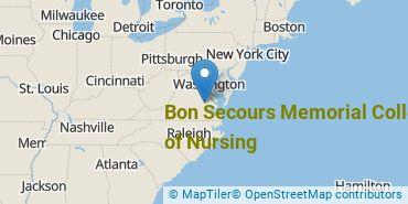 Location of Bon Secours Memorial College of Nursing