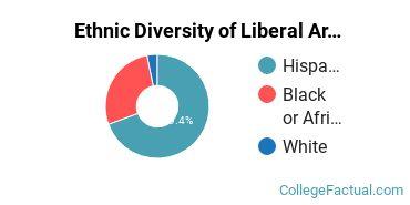 Ethnic Diversity of Liberal Arts / Sciences & Humanities Majors at Boricua College